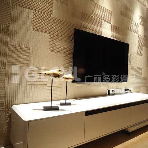 艺术质感电视背景墙