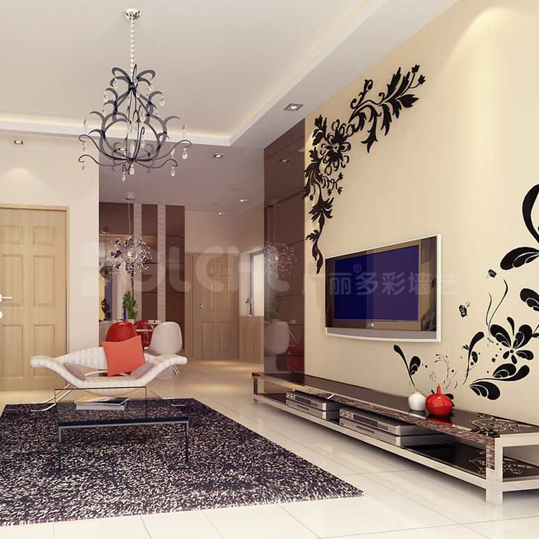 韩式风格背景墙