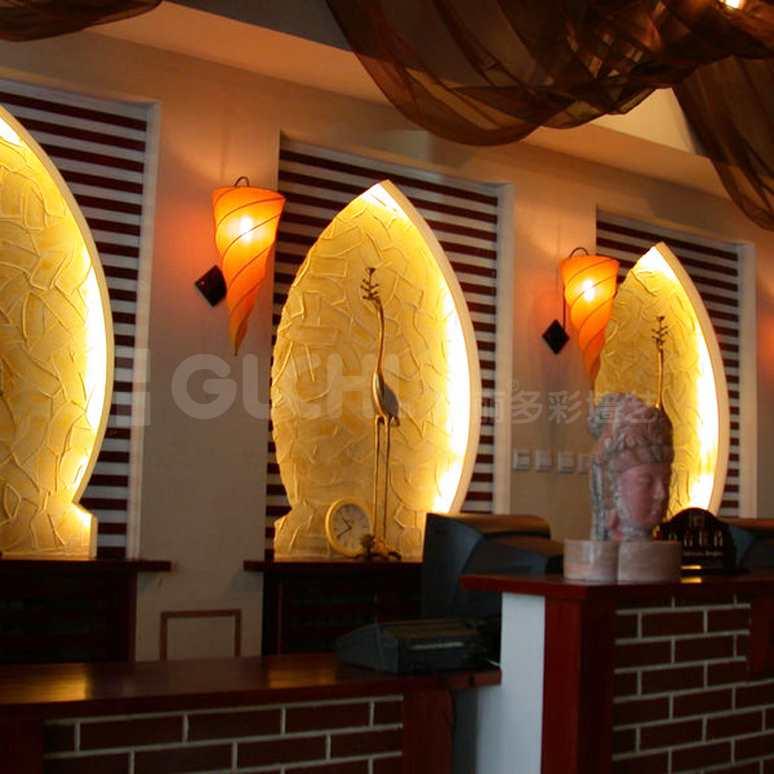 餐厅墙艺效果