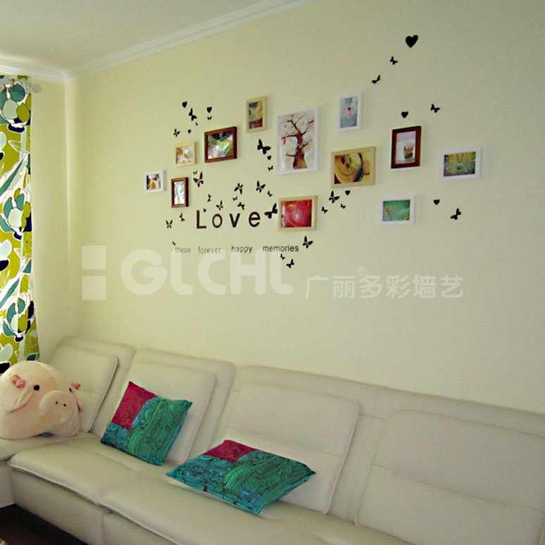 韩式风格照片墙沙发背景