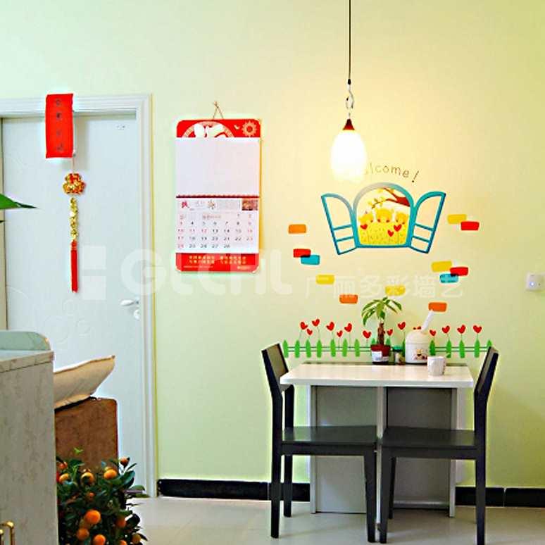 创意手工墙纸餐厅
