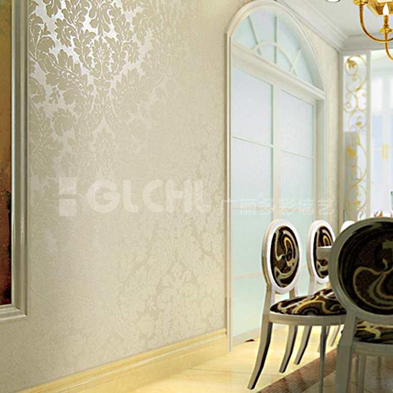 欧式手工墙纸餐厅