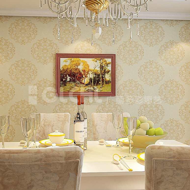手工墙纸餐厅